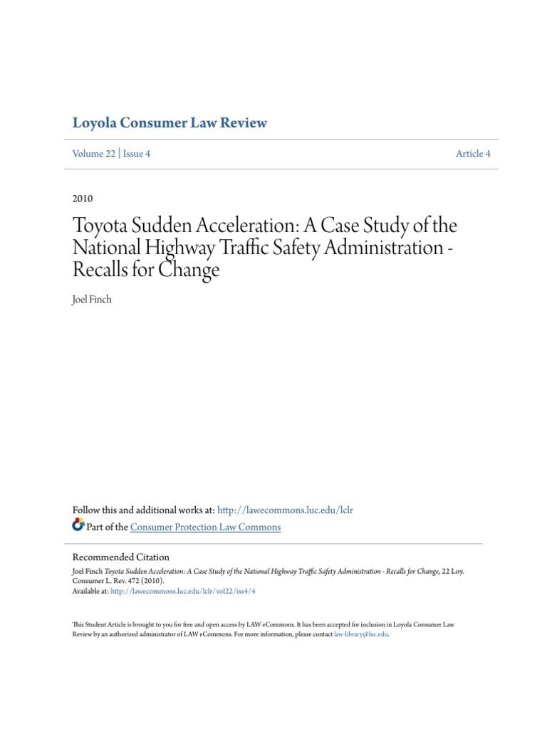 toyota recall 2010 case study