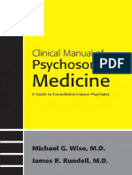 Clinical Manual of Psychosomatic Medicine Rundell- Wise Handbook