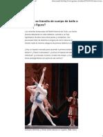 ¿Cómo Se Transita de Cuerpo de Baile a Primera Figura