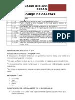 Bosquejo Versìculo de Galatas 5 1
