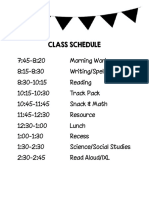class schedule revised