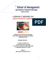 Project on Marketing Strategy of Asian Paints_194513673