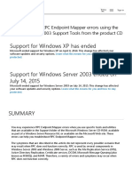 Troubleshooting RPC Endpoint Mapper Errors Using the Windows Server 2003 Support Tools From the Product CD