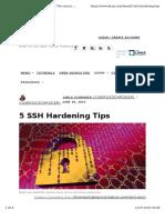 5 Ssh Hardening Tips
