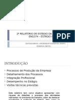 2 ° Apresentação Estagio Industrial