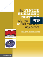 The Finite Element Method With Heat Transfer and Fluid Mechanics Applications - Erian a. Baskharone (Cambridge, 2014)