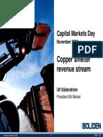 13 Copper Smelters Revenue Stream, Ulf Söderström, President BA Market