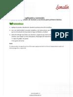 Evaluacion semestral de lectura y escritura para 1° basico