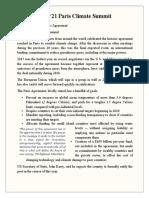 COP 21 Paris Climate Summit