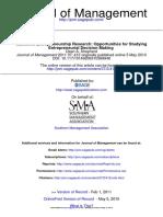 Multilevel Entrepreneurship Research