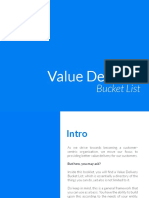 Value Delivery Bucket List