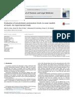 Evaluation of Procalcitonin Postmortem Levels in Some Models