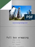 Japan Bus Wrapping Mobile advertising