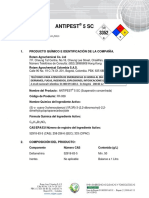 Msds Antipest 5 Sc 07-13