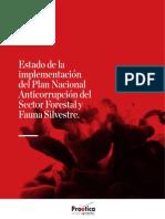 Estado de la Implementación del Plan Nacional Anticorrupción del Sector Forestal y Fauna Silvestre