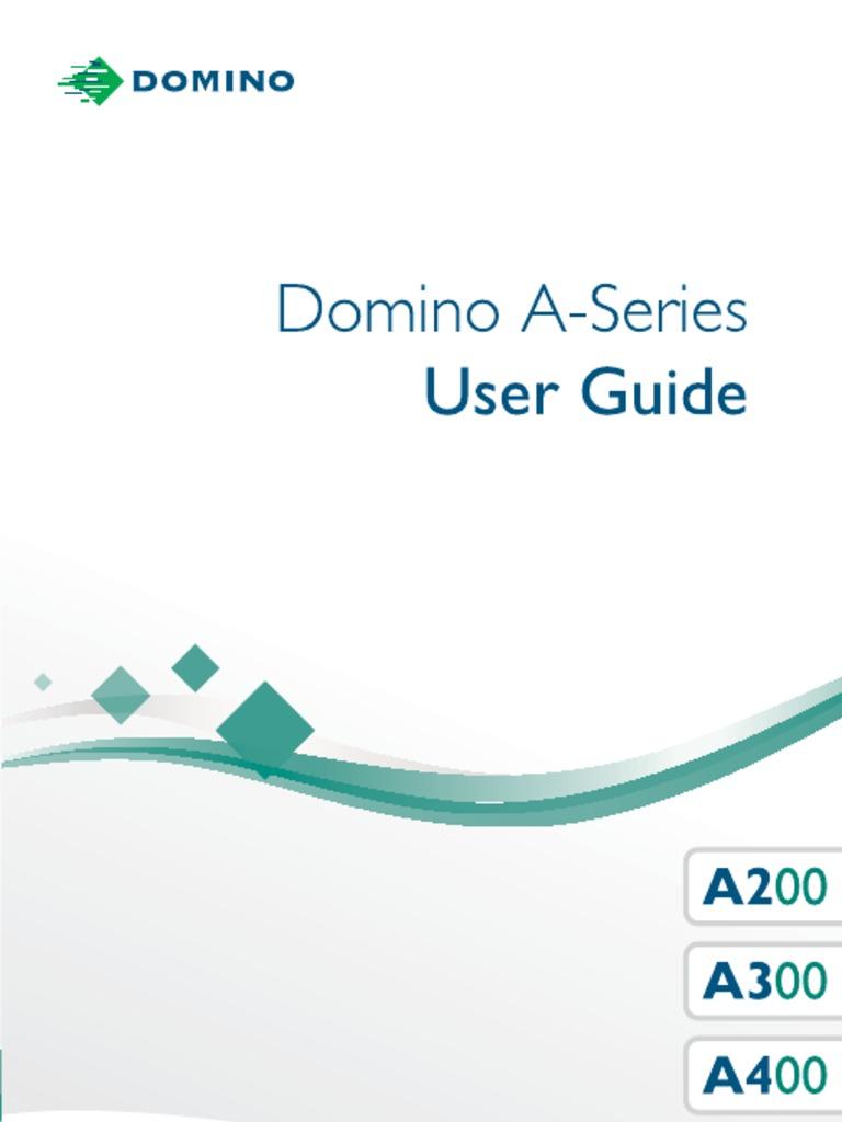 Domino a200 printer user manual.
