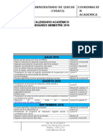 Calendario Académico Segundo Sem2016