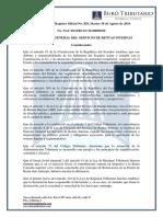 RO# 829 - S - Normas Que Regulan Exoneración Del Pago Del Saldo Del Impto Rta Del Ejercicio 2015 (30 Agosto 2016)