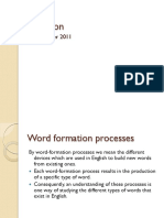 Inflectional vs Word-Formation