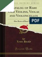 Catalog of Rare Old Violins Violas and Violoncellos 1000738211
