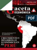 Revista Gaceta Económica N° 21 - Facultad de Economía, UNCP