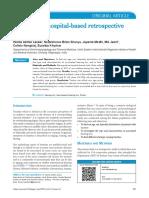 Tinnitus a Hospital Based Retrospective Study