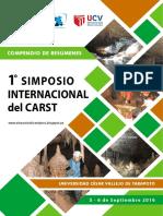 COMPENDIO DE RESUMENES DEL 1ER. SIMPOSIO INTERNACIONAL DEL CARST, PERU 2016
