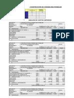 Costos Unitarios y Presupuestos General b