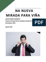 Plan de Trabajo Candidato Javier Gómez