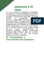 El Carupanazo y El Porteñazo