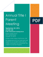 Annual Meeting - Flyer