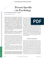 The New Person-specific Paradigm in Psychology