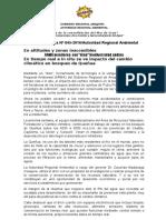 NOTA DE PRENSA N° 045 ARMA MONITOREA CON DRON BIODIVERSIDAD ANDINA EN ALTITUDES INACCESIBLES BOSQUES DE QUEÑUA