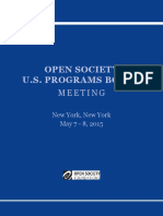 Open Society Foundations, New York, NY May 7-8, 2015