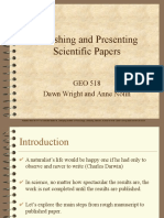 Publishing and Presenting Scientific Papers