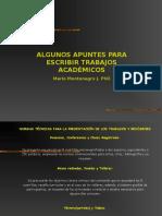 ALGUNOS APUNTES PARA ESCRIBIR TRABAJOS ACADEMICOS.ppt
