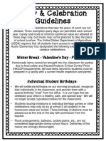 party   celebration guidelines