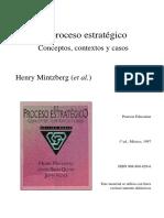 Mintzberg, H., Quinn, J. y Voyer, J. (1997) Cap. 3 Diseño y Planificación de La Estrategia
