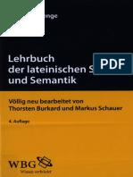 Lehrbuch Der Lateinischen Syntax Und Semantik