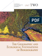 Brown & Lomolino The geographic an ecological foundations of  biogeography