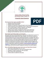 FAQ Canton Public Works Facility