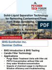 Filtration Technology for Removing Solids