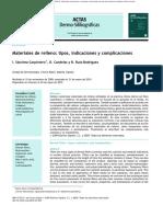Materiales de Relleno, Tipos, dicaciones y Complicaciones