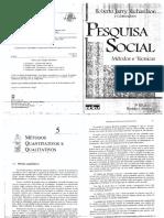 Richardson PESQUISA SOCIAL MÉTODOS E TÉCNICAS