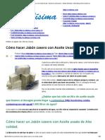 Cómo Hacer Jabón Casero Con Aceite Usado - Ecolisima _ Economia – Medio Ambiente – Marketing Online_ Ecolísima