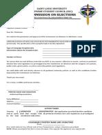Comelec Distribution Form