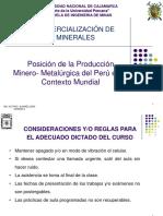 Posicionde Laproduccion Minero Metalurgica Del Peru en El Contexto Mundial