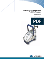 Orbisphere 3654 Portable Analyzer User Manual