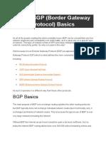 Cisco BGP (Border Gateway Protocol) Basics
