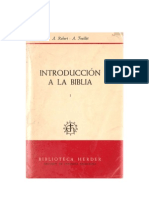 Robert a - Feuillet A_Introduccion a La Biblia_Introd_gral_AT_Herder